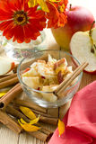 Apples with cinnamon Royalty Free Stock Image