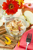 Apples with cinnamon Stock Photo