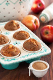 Apples and cinnamon muffins Royalty Free Stock Photography
