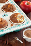 Apples and cinnamon muffins Stock Photos