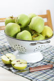 Apples in the colander Royalty Free Stock Photo
