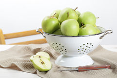 Apples in the colander Stock Images