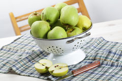 Apples in a colander Stock Photo