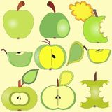 Apples collection Stock Photography