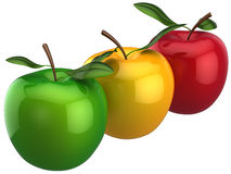 Apples colorful. Individuality concept (Hi-Res) Royalty Free Stock Image