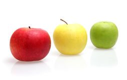 Apples. Colour apples on white background Royalty Free Stock Photo