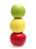 Apples. Colour apples on white background Stock Photo