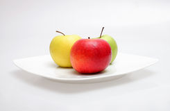 Apples. Colour apples on white background Royalty Free Stock Photos