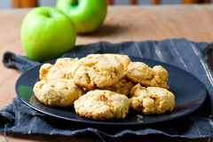 Apples coockies..style rustic Royalty Free Stock Image