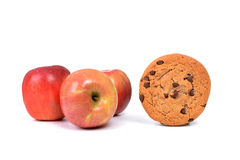 Apples or Cookie Stock Images