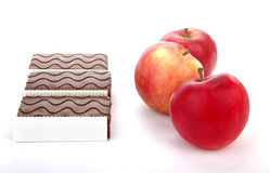 Apples and cookies Royalty Free Stock Images