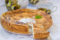 Apples and cottage cheese pie Royalty Free Stock Image