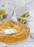 Apples and cottage cheese pie Stock Images