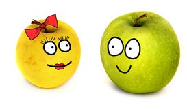 Apples couple Royalty Free Stock Images