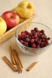 Apples, cranberries and cinnamon. Rolls Stock Photo