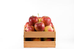 Apples in a crate. Royalty Free Stock Image
