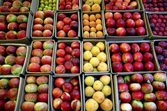 Apples in crates at Thailand market Royalty Free Stock Photos