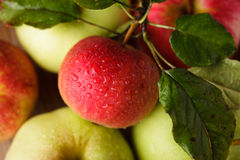 Apples crop Stock Photo
