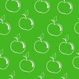 Apples on a dark green background Royalty Free Stock Images