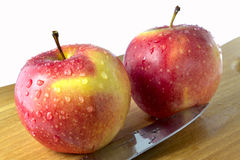 Apples on the desk Stock Photography