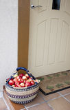 Apples at doorway Royalty Free Stock Photography
