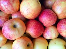 Apples on Farm in Basket at Fruitstand Royalty Free Stock Images