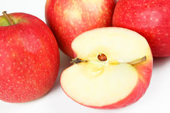 Apples. A few apples with white background Royalty Free Stock Photo