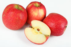 Apples. A few apples with white background Royalty Free Stock Images