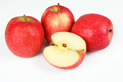 Apples. A few apples with white background Stock Images