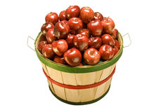 Apples Filling Bushel Basket Royalty Free Stock Photos