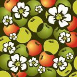 Apples and flowers Royalty Free Stock Photography