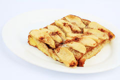 Apples on French Toast Stock Images