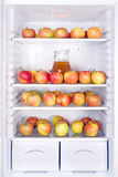 Apples in the fridge Stock Image