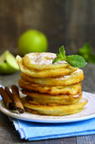 Apples fried in a batter. Royalty Free Stock Photos