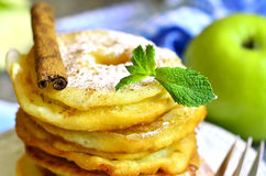 Apples fried in a batter. Stock Image