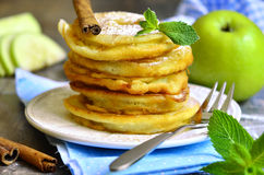 Apples fried in a batter. Royalty Free Stock Image