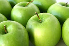 Apples fruit. Bunch of Fresh apples granny smith fruit Stock Photo