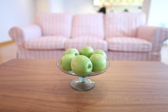 Apples in a fruit bowl Stock Images