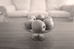 Apples in a fruit bowl Stock Image