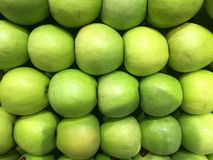 Apples. Fruit. Fragment from a fruit and vegetable shop. Stock Images