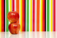 Apples fruit, multicolored background. Apple Royalty Free Stock Photography