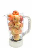 Apples fruits into Plastic blender Stock Image
