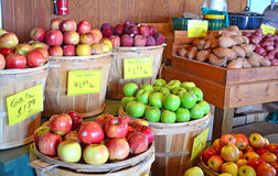 Apples Gala Fuji Granny Red and Sweet Potatoes Royalty Free Stock Images