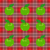 Apples and Gingham Royalty Free Stock Images