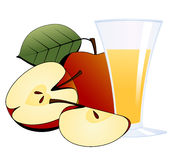 Apples and a glass of apple juice Stock Photo
