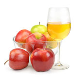 Apples and glass with juice Royalty Free Stock Photos