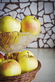 Apples in a glass vase Stock Photography