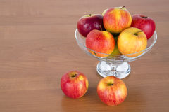 Apples in a glass Royalty Free Stock Photos