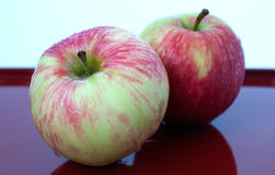 Apples on a glossy surface Stock Photography