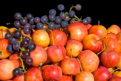 Apples and grape 2 Royalty Free Stock Images